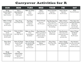 Carryover Calendar for R