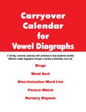 Carryover Calendar for Vowel Diagraphs