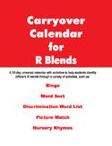 Carryover Calendars for R Blends