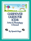 Carryover Cards for Kids : G Sound ( by Speech Hugs)