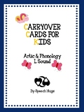 Carryover Cards for Kids L Sound ( by Speech Hugs)