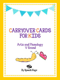 Carryover Cards for Kids : V Sound ( by Speech Hugs)