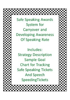 Carryover Safe Speaking and Speeding Tickets