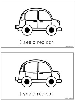 Cars - A Color Word Booklet
