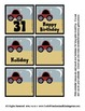 Cars Calendar Pieces Memory game sets - Discuss Day and Night - Preschool