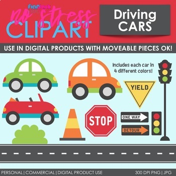 Cars Clip Art (Digital Use Ok!)