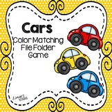 Cars Color Matching File Folder Game