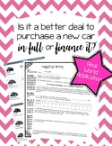 Cars: Financing vs. Paying in full
