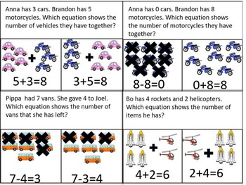 Cars-Identify Numerical Equations with Picture Models WA-AIM 6 E.E. Test Prep