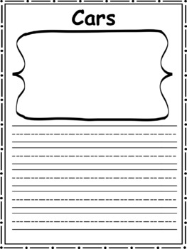 Cars: Informational Text and Writing Activity