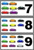 Cars Number Flashcards