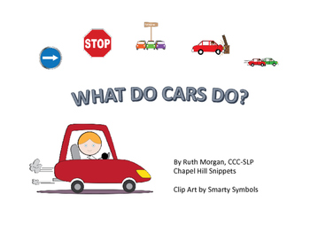 Cars Packet for Special Education/Speech Language and Literacy