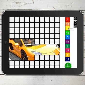 Cars Photos 100 Trials No Print Hidden Images Game for Speech and Articulation