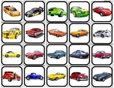 """Cars"" Picture Matching/Flashcards/Memory Game for Autism"