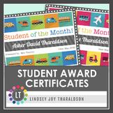Cars! Planes! Trains!  Student Award Certificates {Editabl