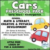 Cars Preschool Pack  (Transportation/car theme  | Colored/Coloured Cars)