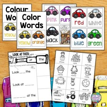 Cars Reader - Sight Word Leveled Reader, Activities