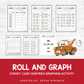 Disney Inspired Cars Roll and Graph Activity