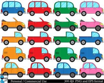 Cars Set Clipart - Digital Clip Art Graphics 65 images cod70