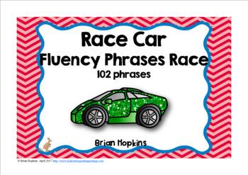 Cars Sight Words Fluency Phrases Race