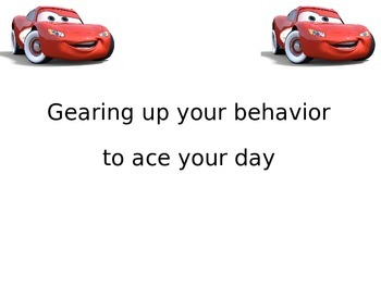 Cars Theme for Behavior Red Light System