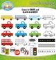 Cars & Transportation Clipart Set — Over 25 Bright Graphics!