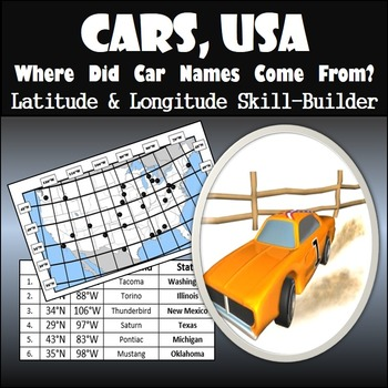 Latitude and Longitude Activity - Cars, USA