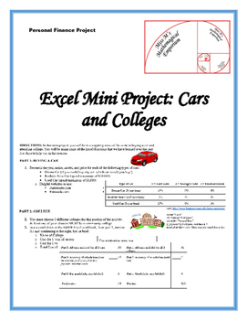 Cars and Colleges Excel Mini Project