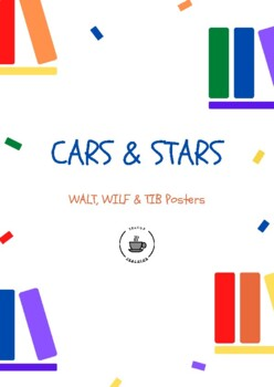 Cars and Stars Reading Strategy Posters - WALT, WILF, TIB
