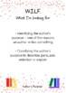 Cars and Stars Reading Strategy Posters - WALT, WILF, TIB