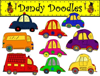 Cars and Trucks Clip Art by Dandy Doodles
