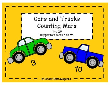 Cars and Trucks Counting Mats