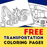 Cars and Trucks and Transportation Preschool coloring pages Printable FREE Ver.