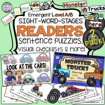 Cars and Trucks Sight-word levelled readers and activities