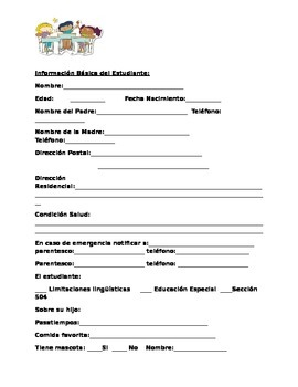 Carta Bienvenida Inicio escolar y Perfil de estudiante