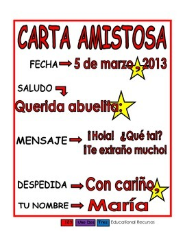 Carta amistosa roja