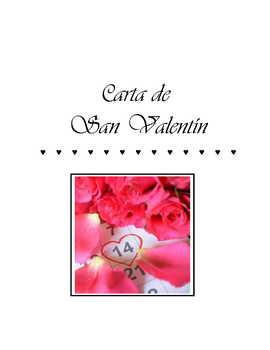 Carta de ♥ San Valentín For Spanish Class