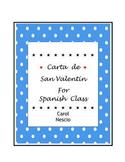 Spanish Valentine's Card ~ Carta de ♥ San Valentín
