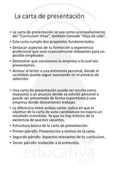 Carta de presentación. Redacción comercial. Spanish presentation letter