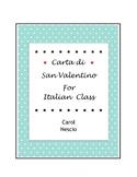 Carta di ♥ San Valentino For Italian Class