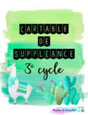 Couvertures de cartable de suppléance