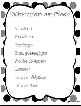 Cartable pour suppléance - Version modififable - Substitute folder - Editable