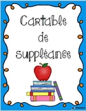 Cartable pour suppléance - Version modififable - Substitut