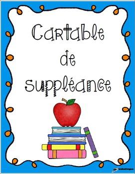 Cartable pour suppléance - Version modififable - Substitut
