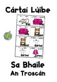 Cartaí Lúibe (Loop Card Game): Sa Bhaile: An Troscán (words on the cards)