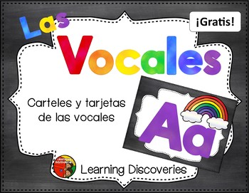 Tarjetas de las Vocales GRATIS! - Spanish Vowel Cards FREEBIE!