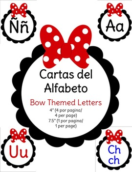 Cartas Del Alfabeto - Bow Themed Spanish Alphabet