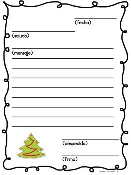 Cartas de Navidad   Christmas Letter in spanish