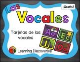 Tarjetas de las Vocales de color GRATIS! - Colorful Spanis