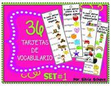 Cartas de vocabulario en español (Vocabulary Cards in Spanish)
